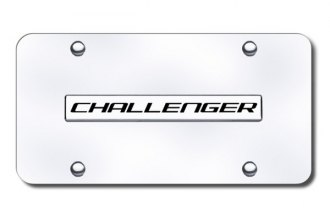 Autogold® - Challenger Logo on Chrome License Plate