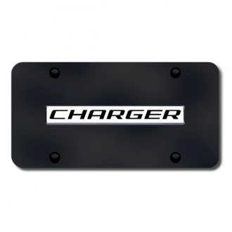 Autogold® - Charger Logo on Black License Plate