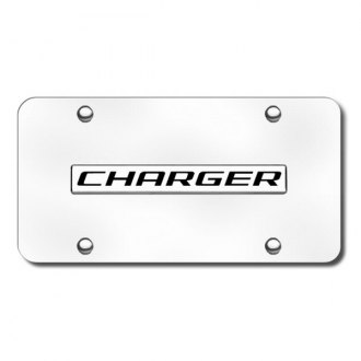 Autogold® - Charger Logo on Chrome License Plate