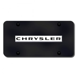 Autogold® - Chrysler Name on Black License Plate