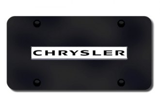 Autogold® - Chrysler Logo on Black License Plate