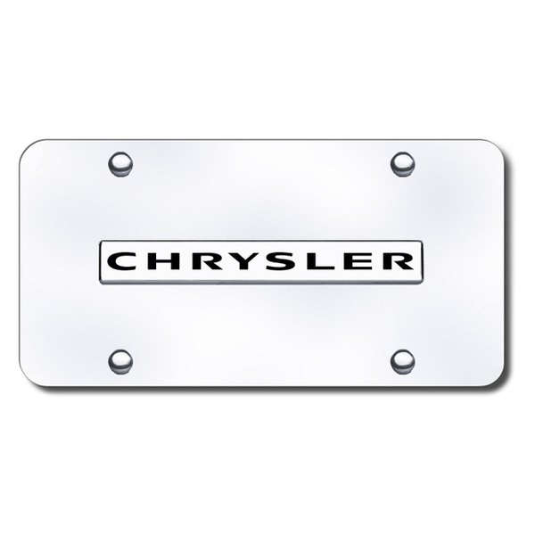 Autogold® - Chrysler Logo on Chrome License Plate