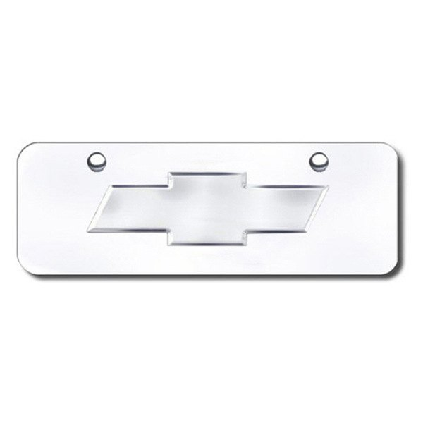Autogold® - Chevy New Logo on Chrome Mini Size License Plate
