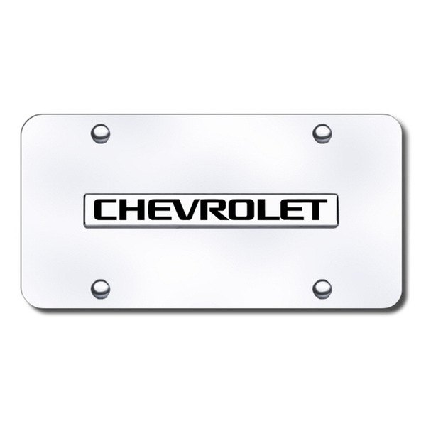 Autogold® - Chevy Name Logo on Chrome License Plate