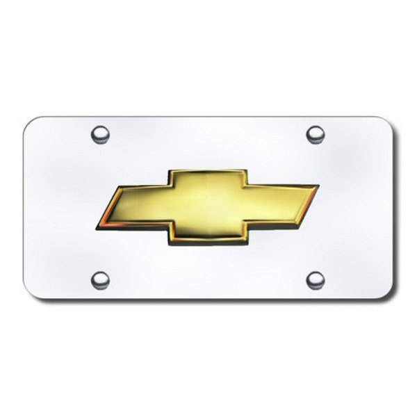 Autogold® - 3D OEM Chevy Logo on Chrome License Plate