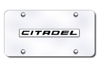 Autogold® - Citadel Logo on Chrome License Plate