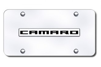Autogold® - Camaro Name Logo on Chrome License Plate