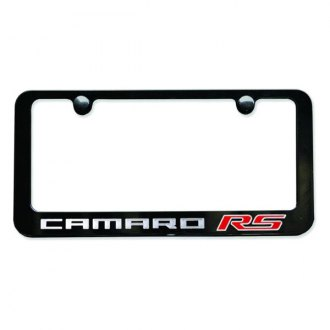 Autogold® - Camaro RS Logo on Black License Plate
