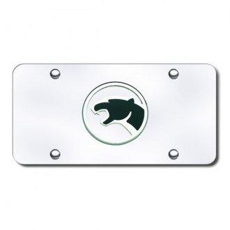 Autogold® - Cougar Logo on Chrome License Plate