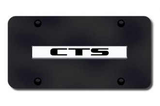 Autogold® - CTS Logo on Black License Plate