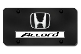 Autogold® - Accord Logo on Black License Plate