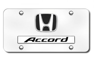 Autogold® - Accord Logo on Chrome License Plate