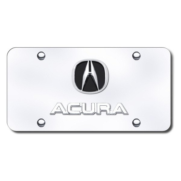 Autogold® - Acura Chrome Dual Logo on Chrome License Plate