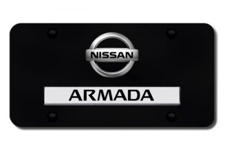 Autogold® - 3D Chrome Armada New Logo on Chrome and Black License Plate