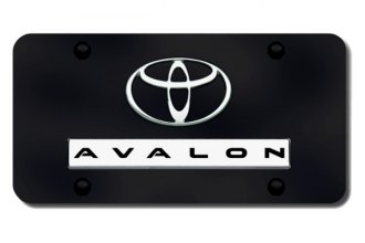 Autogold® - Avalon Logo on Black License Plate