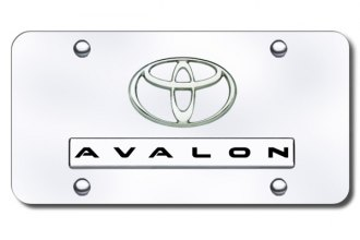 Autogold® - Avalon Logo on Chrome License Plate