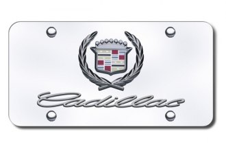 Autogold® - Cadillac Dual Logo on Chrome License Plate