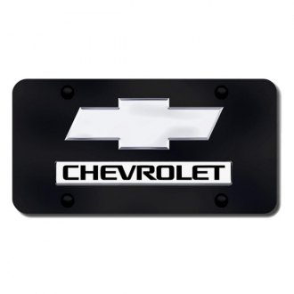 Autogold® - License Plate with Chrome Chevrolet New Logo and Emblem