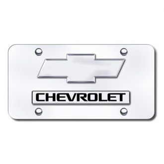 Autogold® - Chevrolet Logo on Chrome License Plate