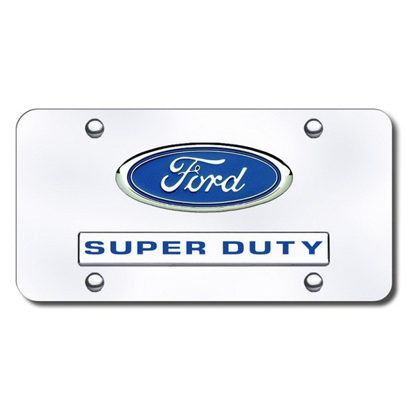 Autogold® - Super Duty Logo on Chrome License Plate
