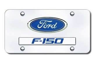 Autogold® - F-150 Logo on Chrome License Plate
