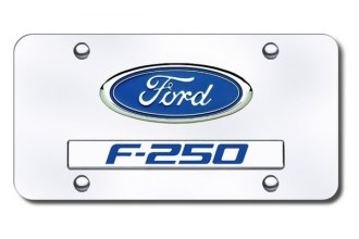 Autogold® - Ford F-250 Logo on Chrome License Plate