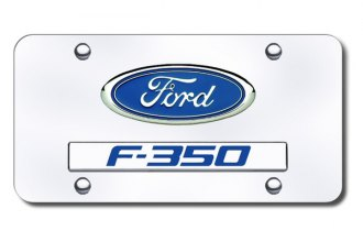 Autogold® - Ford F-350 Logo on Chrome License Plate