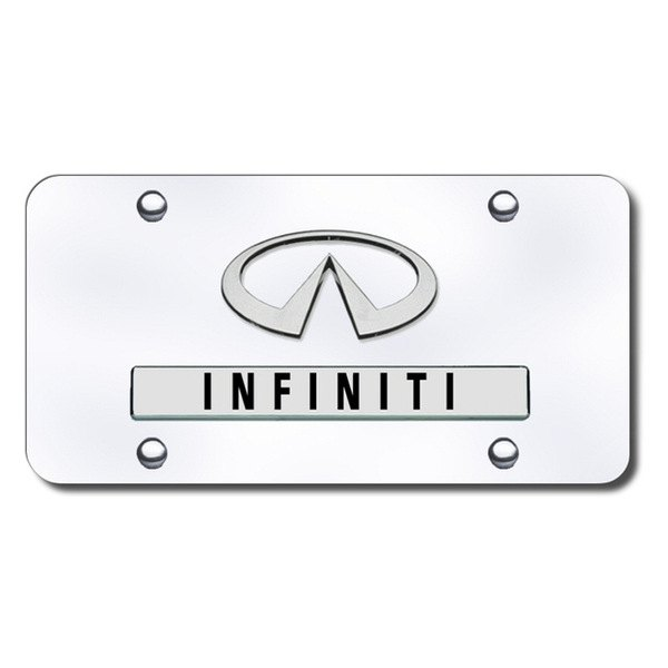 Autogold® - Infiniti Logo on Chrome License Plate