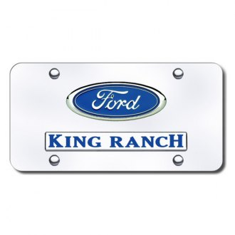 Autogold® - Dual King Ranch Logo on Chrome License Plate