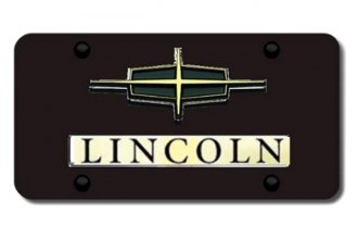 Autogold® - 3D Gold Dual Lincoln Logo on Black License Plate
