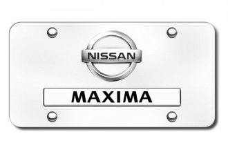 Autogold® - Maxima New Dual Logo on Chrome License Plate