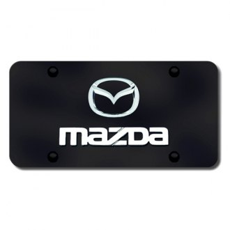 Autogold® - Dual Mazda Logo on Black License Plate
