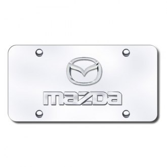 Autogold® - Mazda Chrome Logo on Chrome License Plate