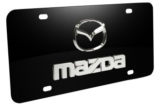 Autogold® - Mazda Old Dual Logo on Black License Plate