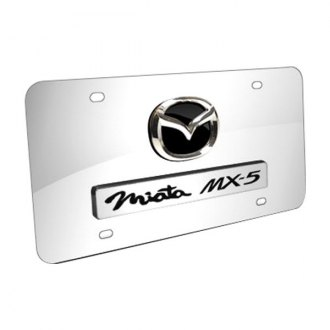 Autogold® - Dual Miata MX5 Logo on Chrome License Plate