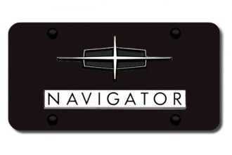 Autogold® - Navigator Logo on Black License Plate
