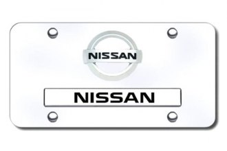 Autogold® - Dual Nissan Logo on Chrome License Plate