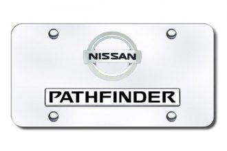 Autogold® - Pathfinder '02 Logo on Chrome License Plate