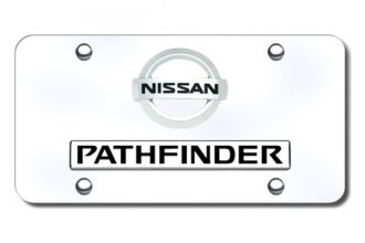 Autogold® - Dual Pathfinder Logo on Chrome License Plate