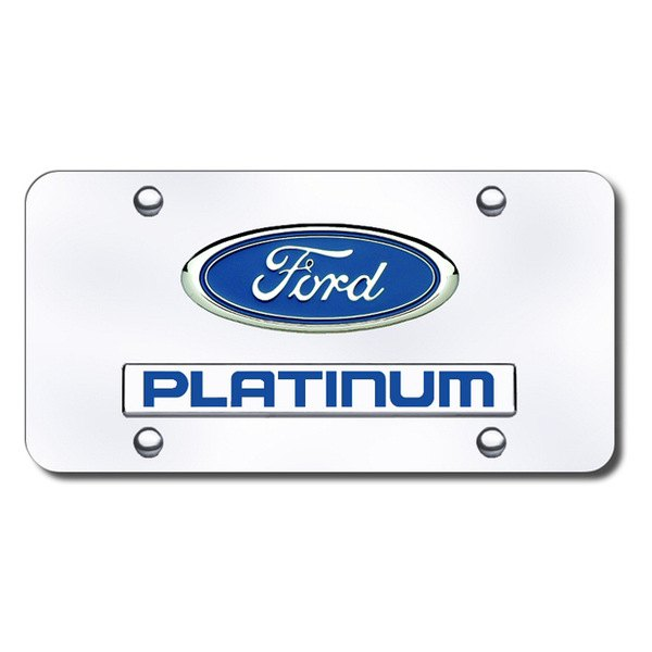 Autogold® - Platinum Logo on Chrome License Plate