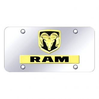 Autogold® - License Plate with 3D Logo and Emblem