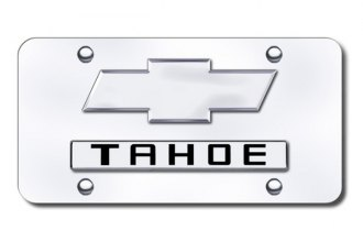 Autogold® - Tahoe Logo on Chrome License Plate