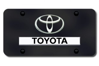 Autogold® - Toyota Logo on Black License Plate