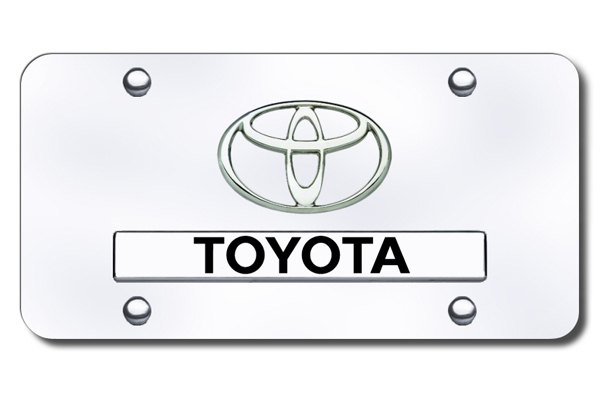 Autogold® - Dual Toyota Logo on Chrome License Plate