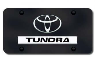 Autogold® - Tundra Logo on Black License Plate