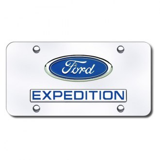 Autogold® - Expedition Logo on Chrome License Plate