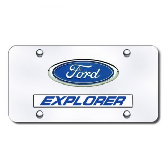 Autogold® - Explorer Logo on Chrome License Plate