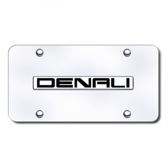 Autogold® - Denali Logo on Chrome License Plate