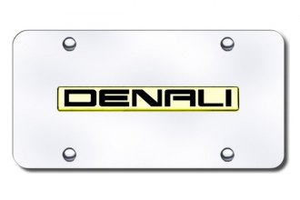 Autogold® - 3D Gold Denali Logo on Chrome License Plate