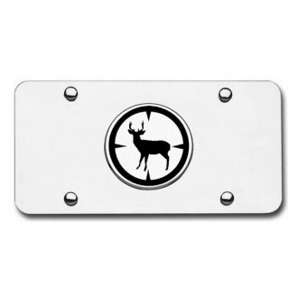 Autogold® - Deer Hunter Logo on Chrome License Plate